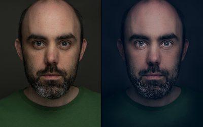Selbstportrait – Bearbeitung mit Photoshop