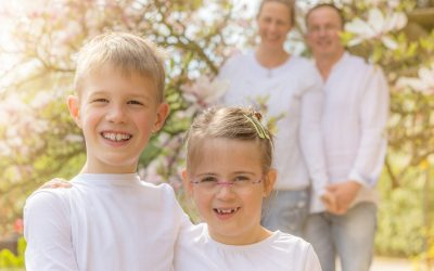 Frühlingsfamilienfotos in Bergheim